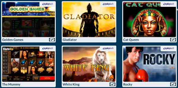 Азартные игры от Playtech - мобильная версия