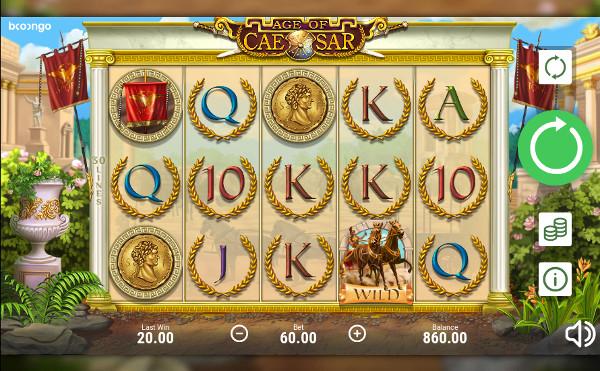 Игровой автомат Age of Caesar - играть онлайн в казино Вулкан Мега