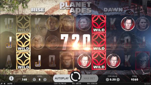 Игровой автомат Planet of the Apes - в казино Миллион выиграй в аппаратах NetEnt