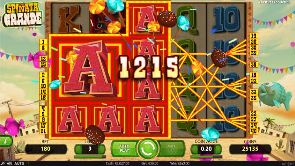 Игровой автомат Spinata Grande - в казино Вулкан Победа удача на стороне игроков