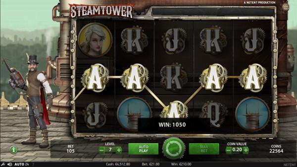 Игровой автомат Steam Tower - регулярные выигрыши ждут вас в казино Вулкан Россия